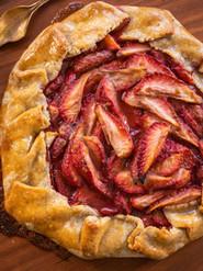 Vegan Rustic Strawberry Galette