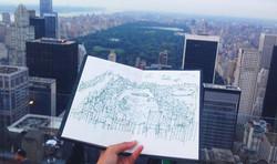 2014美東組-手繪中央公園