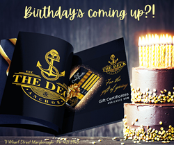 Who's birthday is coming up! Cake - The Deck & Anchor