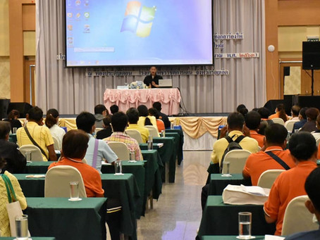 ดร.รณวริทธิ์ เป็นวิทยาการบรรยายเรื่องแนวโน้มความต้องการข้าวอินทรีย์ไทยในตลาดโลก