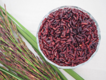 Healthy organic riceberry rice
