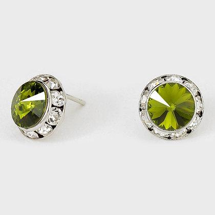 Olive Green Stud Earrings 0 5 123310