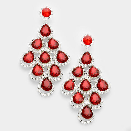 Pageant earrings and fashion jewelry for prom at lmbling oversized red crystal chandelier earrings 338206 aloadofball Gallery