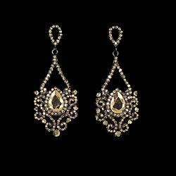 Large topaz earrings large champagne earrings slender topaz chandelier earrings blk topaz ab mozeypictures Gallery
