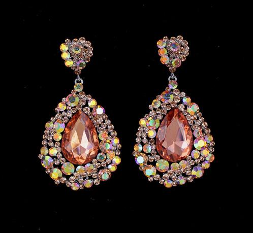 Peach Large Earrings Dimensions 3 25 1 75