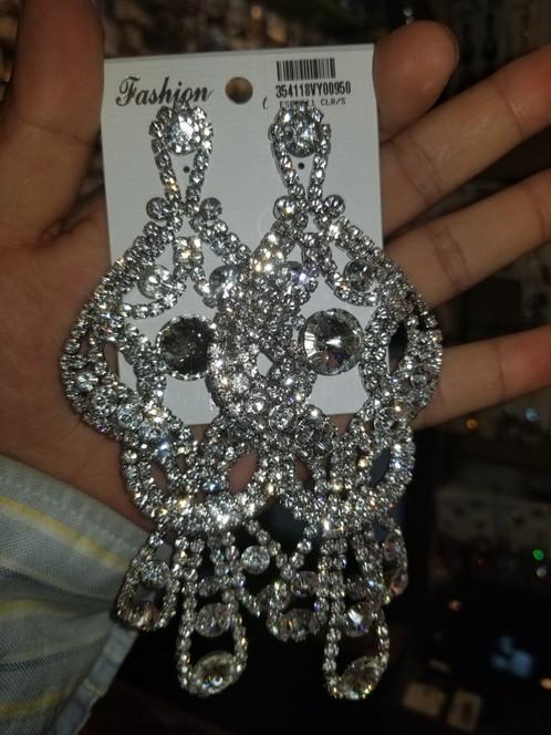 Oversized Chandelier Dangle Evening Earrings