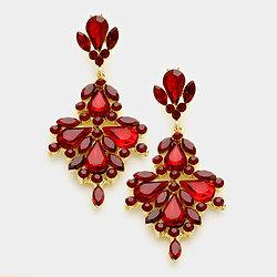 Large red earrings red crystal chandelier earrings 337015 aloadofball Gallery