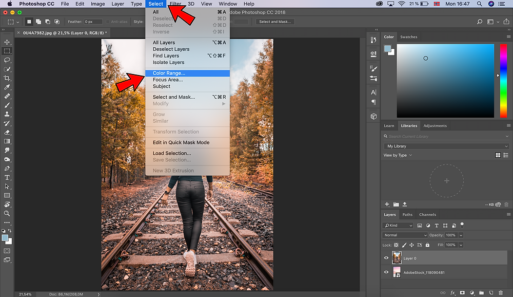 Remove background in Photoshop with Color Range, our favorite