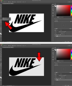 Removing background in Photoshop with Magic Eraser Tool