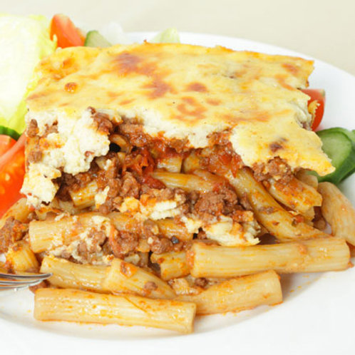 Combination Platter with Pastitsio
