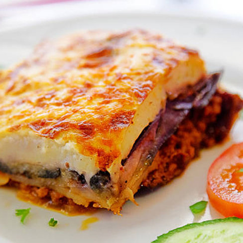 Combination Platter with Moussaka