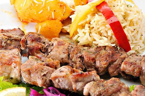 Pork Souvlaki Dinner