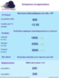 Tarifs services informatiques entreprises et organisations - generationcloud.fr