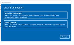 Réinitialiser ce PC Windows generationcloud.fr