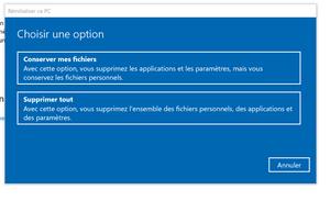 Réinitialiser ce PC Windows generationcloud.fr