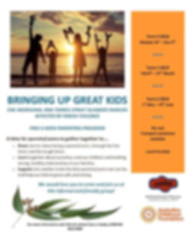 Bringing Up Great Aboriginal Kids Flyer