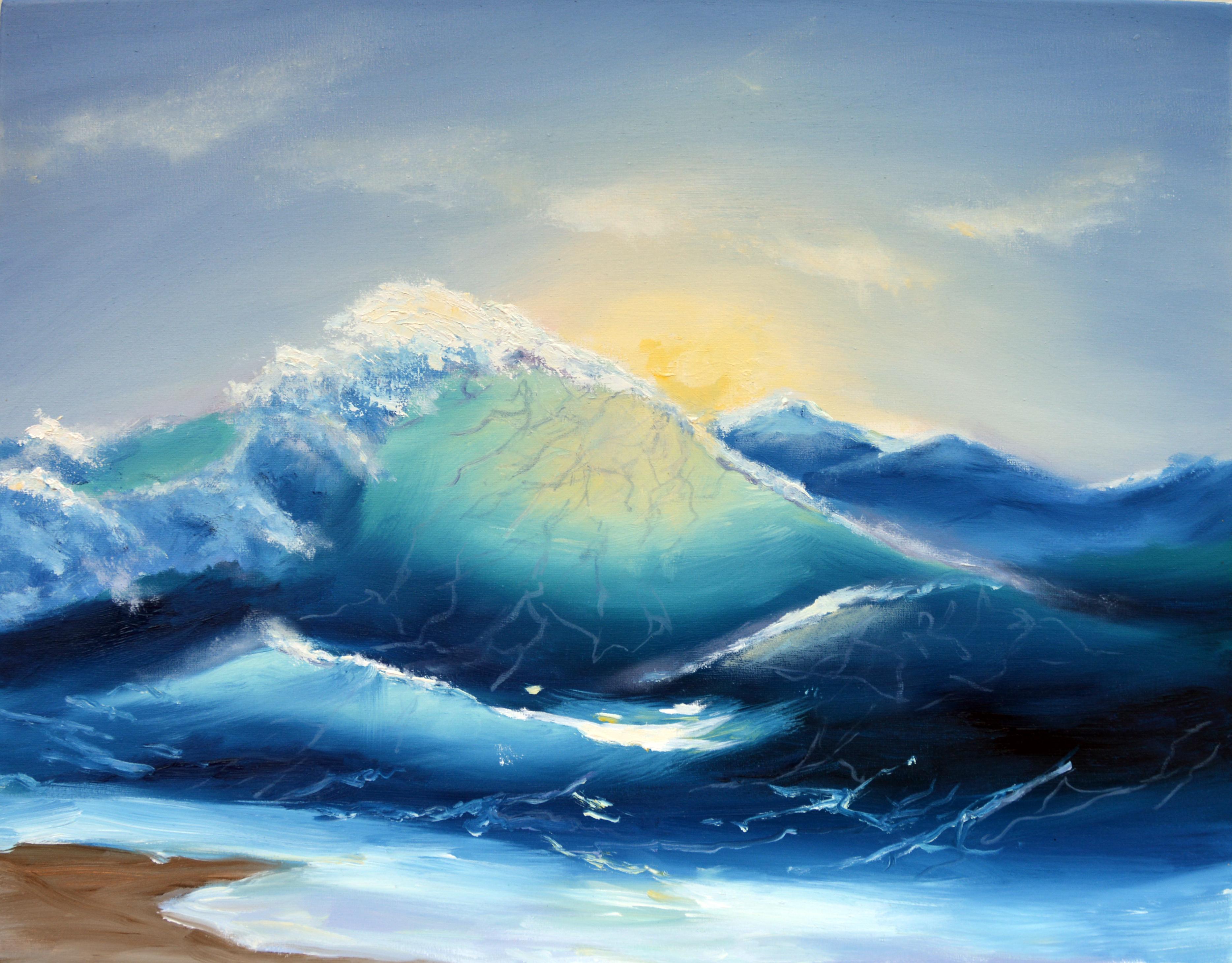 Восход на море