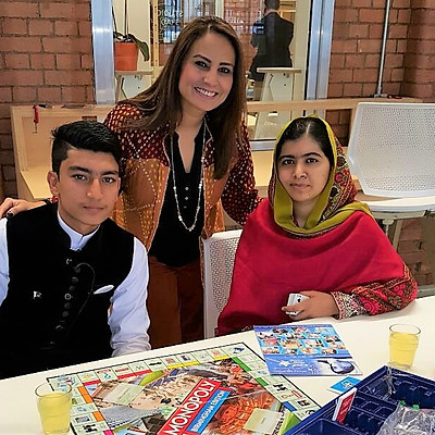 Make-a-Wish child meeting with Malala