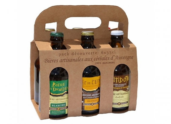 Pack 6 bières d'Auvergne