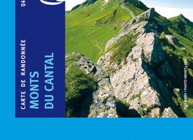 Carte IGN Monts du Cantal