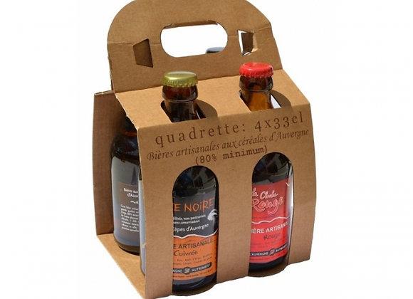 Pack 4 bières d'Auvergne