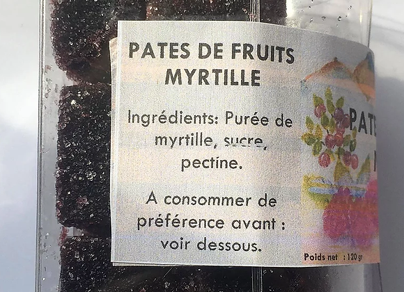 Pâte de fruits Myrtille