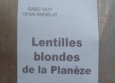 Lentilles Blondes de la Planèze
