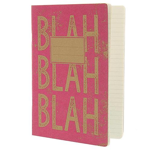 BLAH BLAH BLAH - Soft Cover Notebook