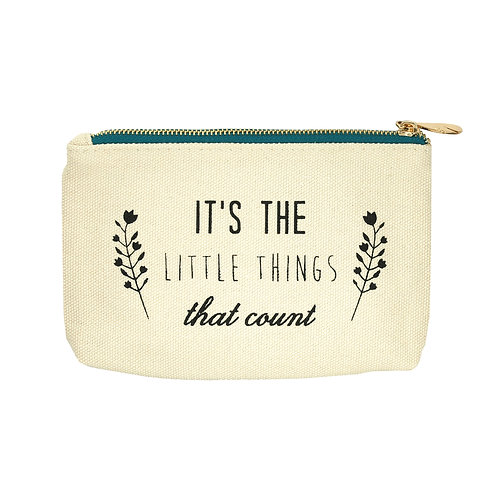 Small Canvas Zip Pouch