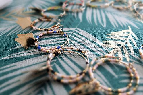 Boucles d'oreilles perles et pampille