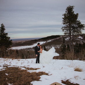 Danae and Neil Winter Wedding   Cypress Hills Alberta