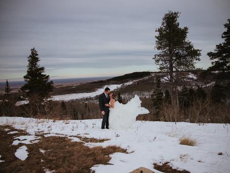 Danae and Neil Winter Wedding | Cypress Hills Alberta