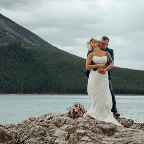 Jillian and Shawn Intimate Elopement Wedding   Banff Alberta