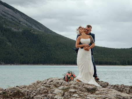 Jillian and Shawn Intimate Elopement Wedding | Banff Alberta
