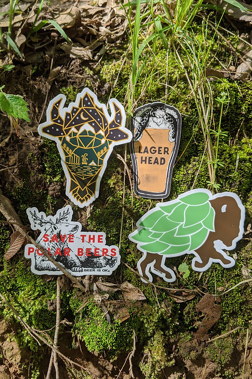 Wild for Beer Sticker Pack