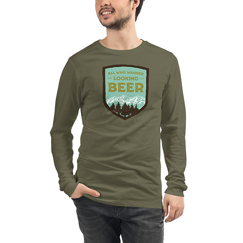 Wander for Beer Shield Unisex Long Sleeve Tee