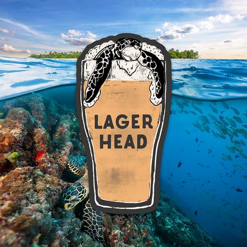 Lager Head Sticker