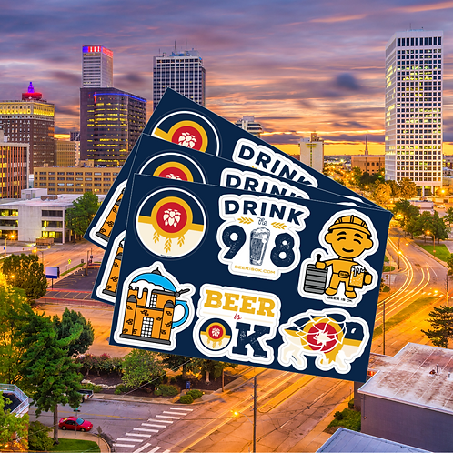 Drink the 918 - Tulsa Beer Sticker Sheet