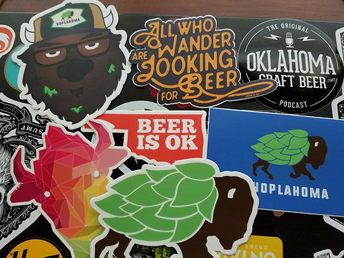Beer is OK logo Sticker