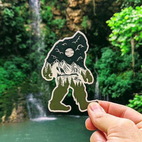 Bigfoot Natural Wander Sticker