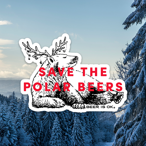 Save the Polar Beers Sticker