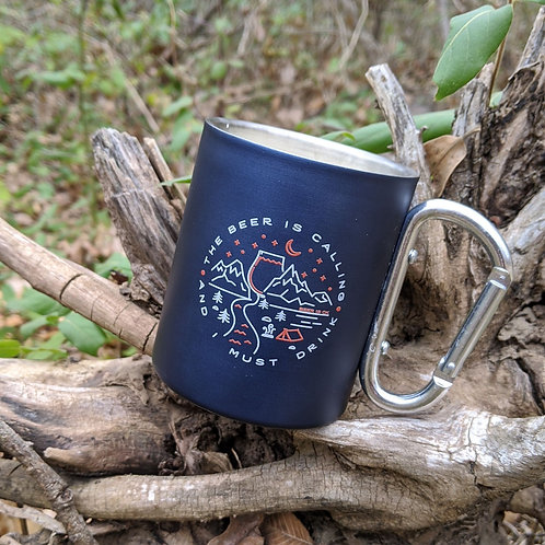 Beer is Calling and I Must Drink Carabiner Mug