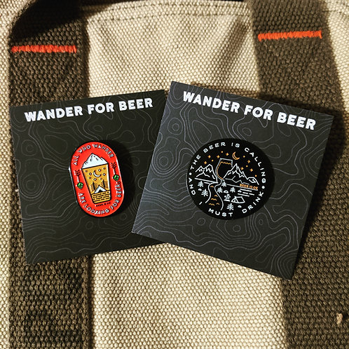 Wander for Beer pins