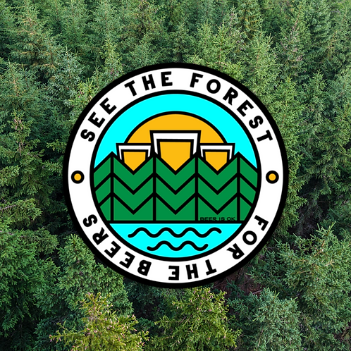See the Forest for the Beers Sticker