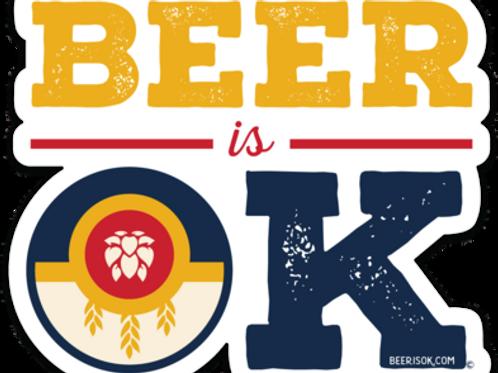 Beer is OK flag Sticker