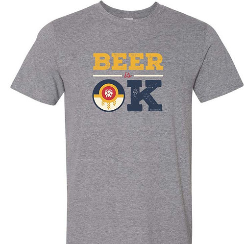 Beer is OK Tulsa Flag T-shirt
