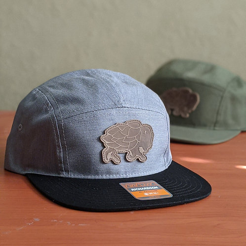 Hop Buffalo Leather Patch Hats