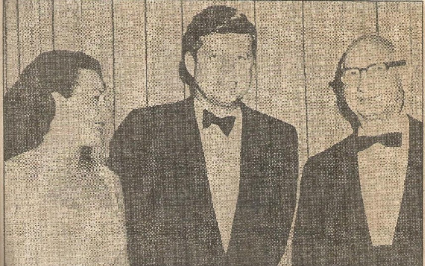 Laura Winston and Ben Weingart, right, with President Kennedy in 1962
