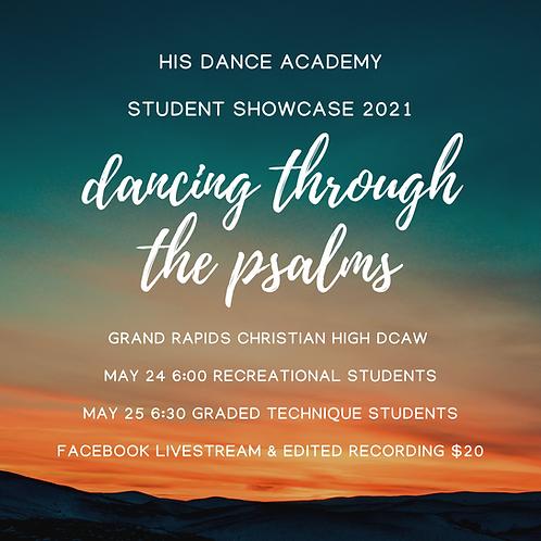 Access to HIS DANCE SHOWCASE 2021