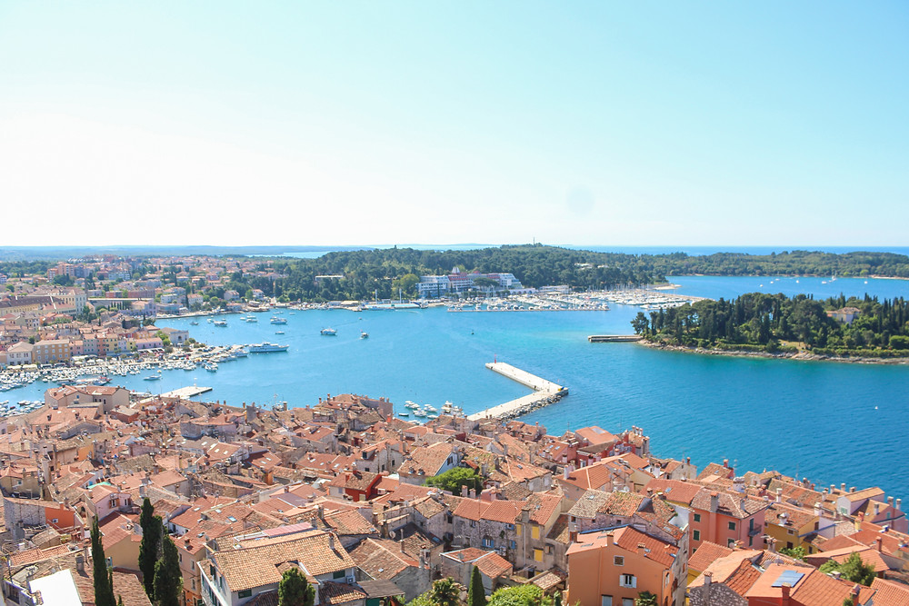 View from belltower in Rovinj, Croatia